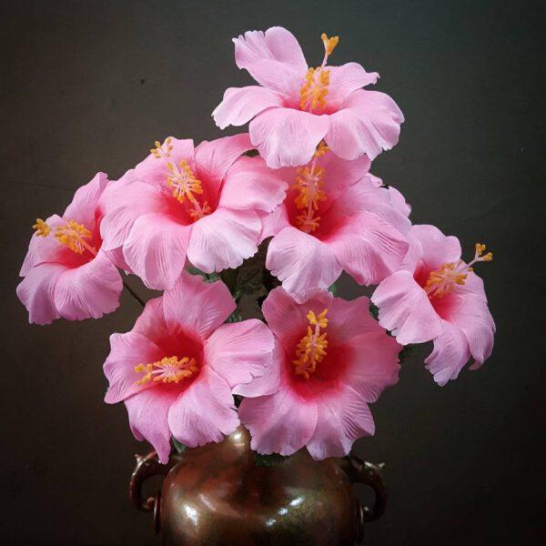 ชบา-ดอกปอม